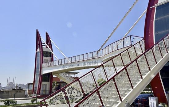 Başkan Erkoç'tan asansörlü üstgeçitte inceleme