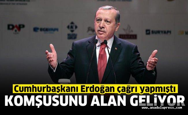 Erdoğan'ın çağrısı karşılık buldu! Komşusunu alan geliyor