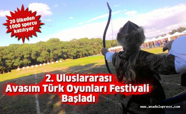 2. Uluslararası Avasım Türk Oyunları Festivali başladı