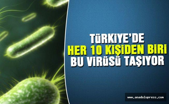 Türkiye'de, her 10 kişiden biri bu virüsü taşıyor