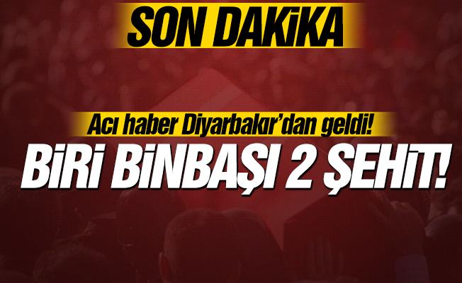 Acı haber Diyarbakır'dan geldi! 2 şehit