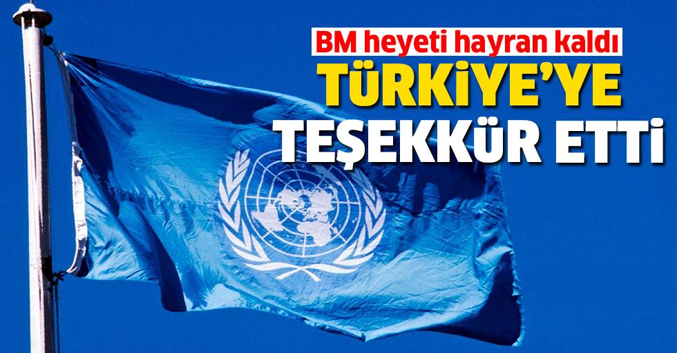 BM heyeti konteynır kenti gezdi, Türkiye'ye teşekkür etti