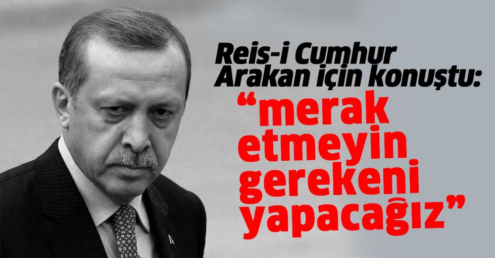 Cumhurbaşkanı Erdoğan'dan Arakan katliamı açıklaması