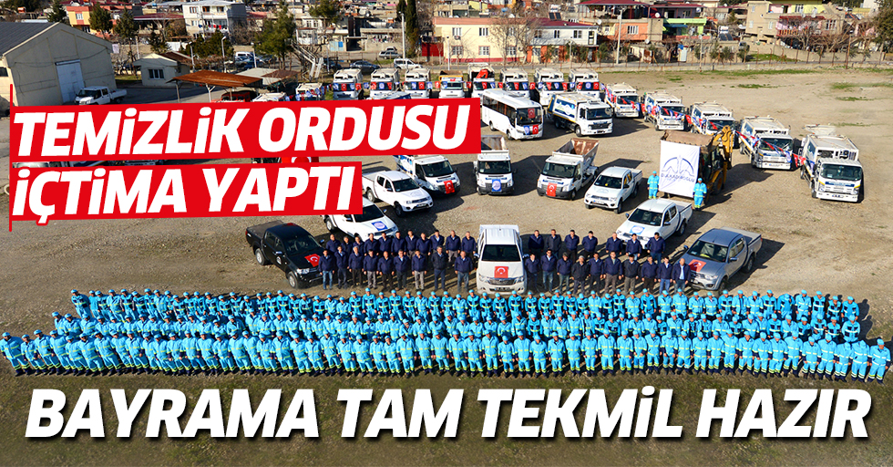 Dulkadiroğlu Temizlik Ordusu Kurban Bayramı'na tam tekmil hazır