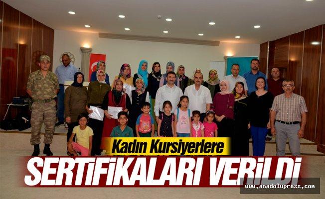 Kadın Kursiyerlere sertifikaları verildi