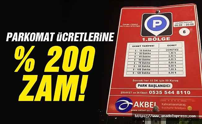 Kahramanmaraş Parkomat ücretlerine yüzde 200 zam!