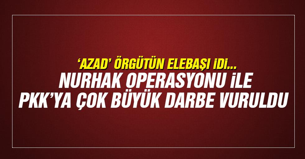 Nurhak Operasyonunda PKK'ya ağır darbe vuruldu