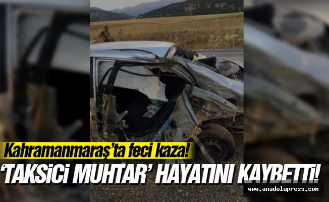 Taksici muhtar hayatını kaybetti