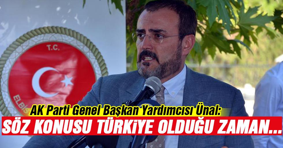 AK Parti Genel Başkan Yardımcısı Ünal: Türkiye söz konusu olduğu zaman kenetleniriz