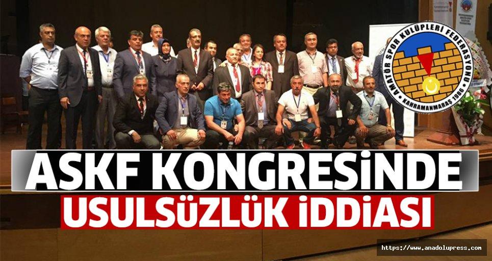 ASKF kongresinde usulsüzlük iddiası !