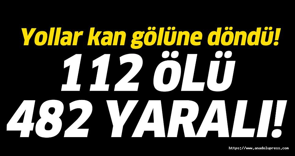 Bayram tatilinin kaza bilançocu! 159 kazada 112 ölü, 482 yaralı