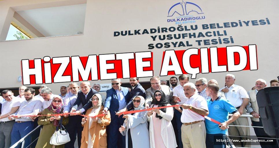Dulkadiroğlu'ndan Yusufhacılı'ya modern tesis