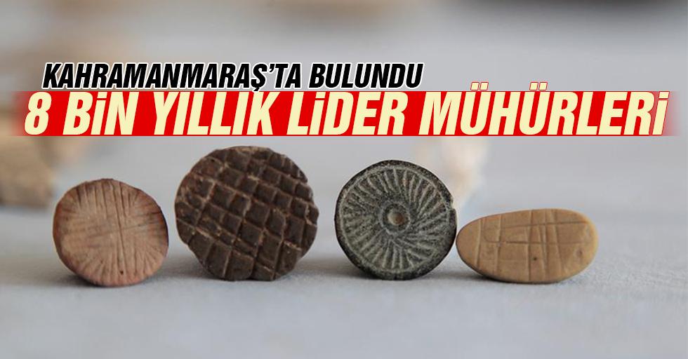 Kahramanmaraş'ta 8 bin yıllık lider mühürleri bulundu...