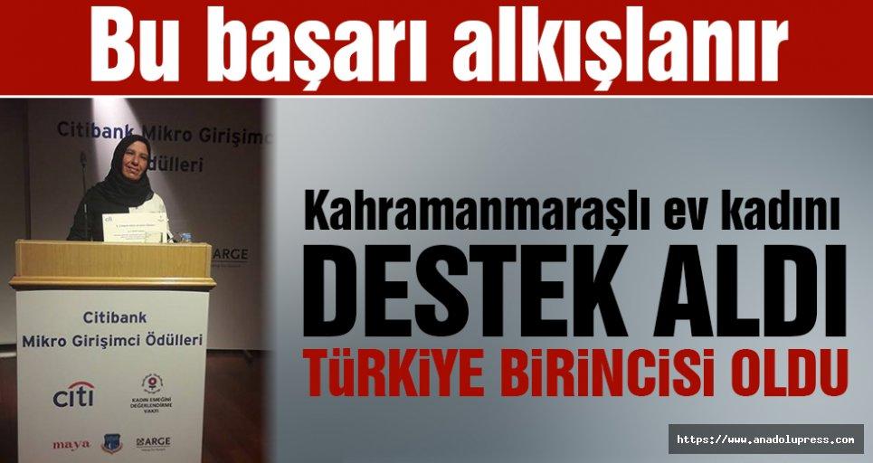 Aldığı destekle Türkiye birincisi oldu