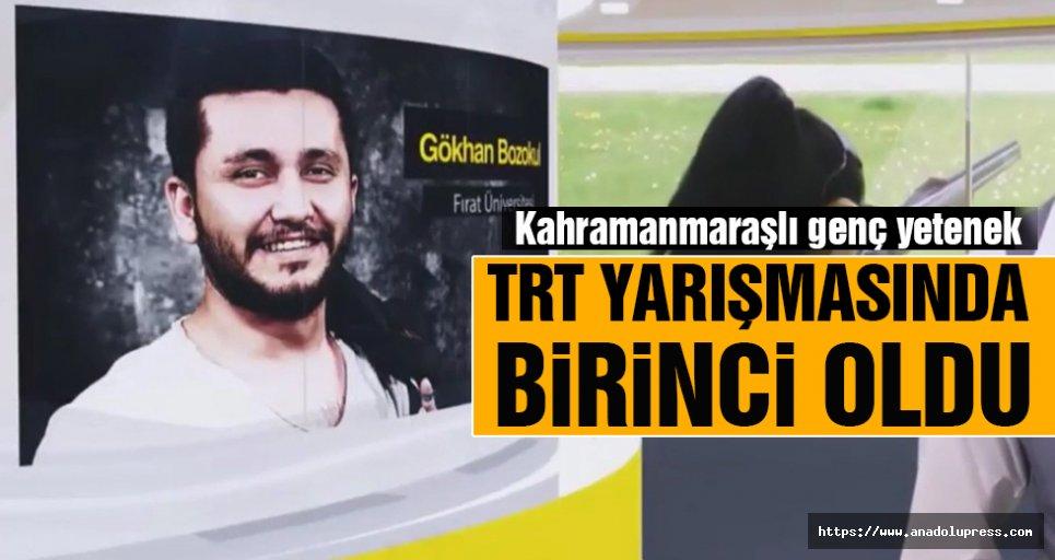 Genç yetenek TRT'nin düzenlediği yarışmada 1. oldu