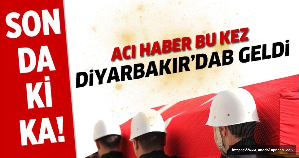 Bu kez acı haber Diyarbakır'dan geldi
