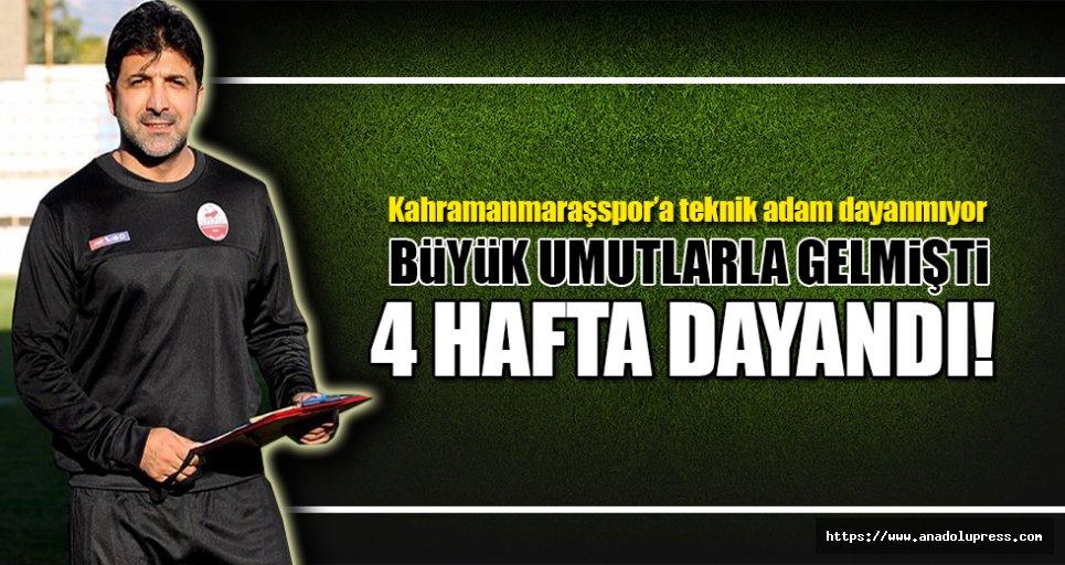 Kahramanmaraşspor'a teknik adam dayanmıyor!