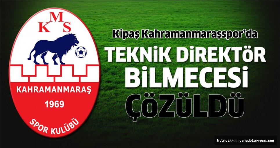 Kipaş Kahramanmaraşspor'un teknik direktörü belli oldu