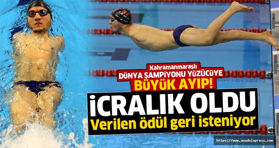 Dünya şampiyonu yüzücüyü icraya vermişler!