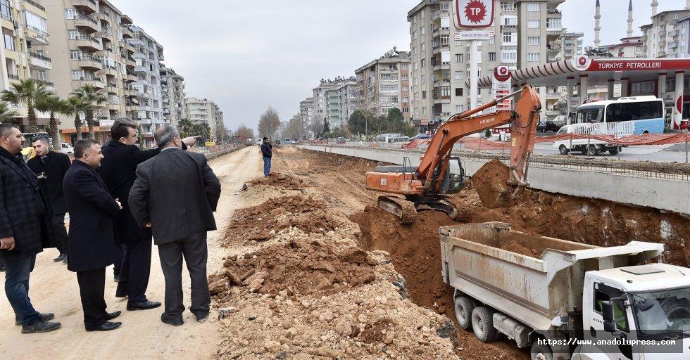 Erkoç Çukurova Tünel Kavşakta İnceleme yaptı