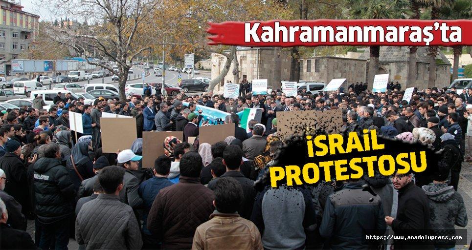 Kahramanmaraş'ta İsrail protestosu!