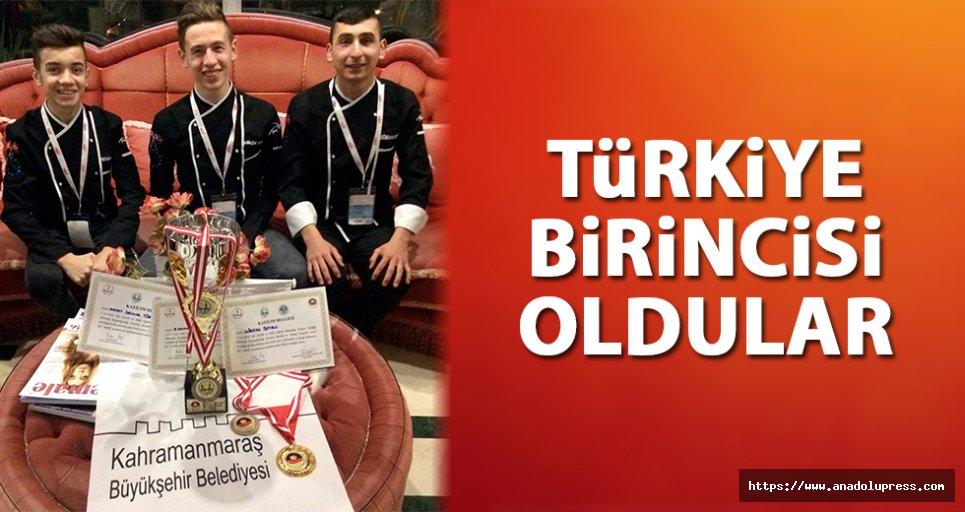 Kahramanmaraşlı öğrenciler Türkiye 1. Oldu!