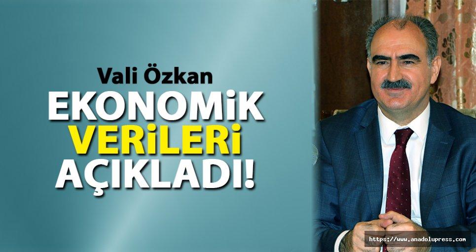Vali Özkan, ekonomik verileri açıkladı!