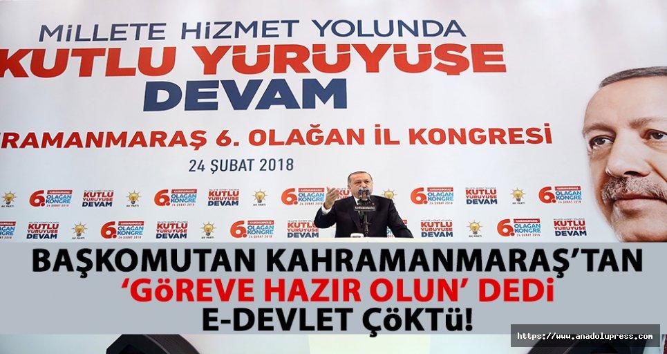 Cumhurbaşkanı Erdoğan hazır olun dedi, e-Devlet sitesi çöktü!