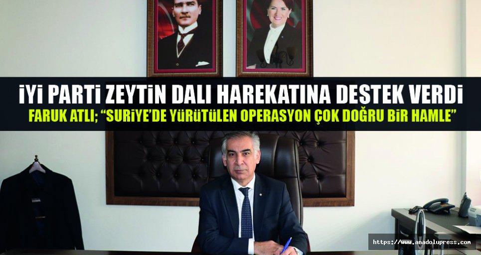 İYİ Parti'den Zeytin Dalı harekâtına destek!