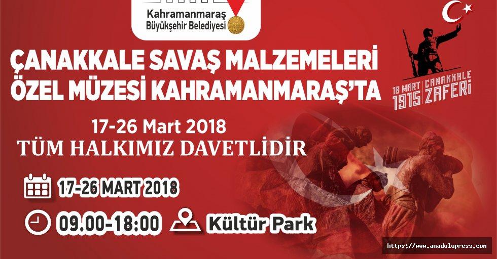 Çanakkale Savaş Malzemeleri Müzesi Kahramanmaraş'ta…