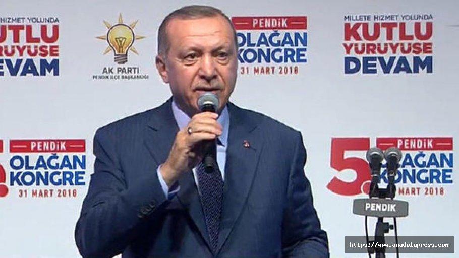"""Erdoğan: """"Bunların bilet parasını verip göndermek lazım"""""""