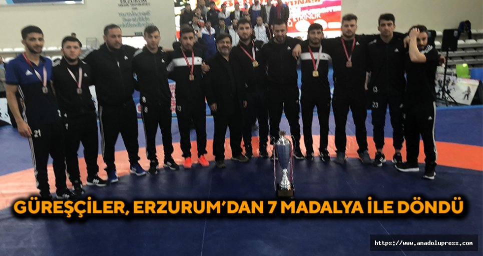 Güreşçiler, Erzurum'dan 7 Madalya İle Döndü