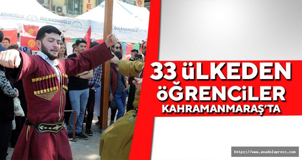 33 Ülkeden öğrenciler Kahramanmaraş'ta