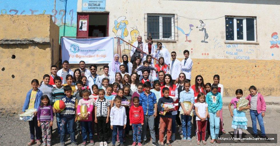 Ankara Tıp Öğrencileri Heyeti Pazarcık'ta