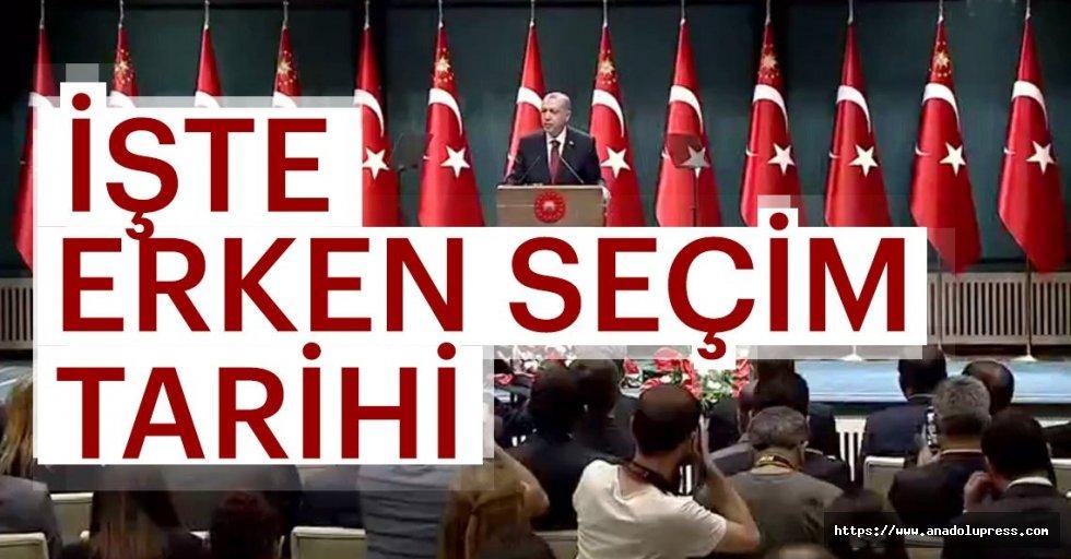 CumhurbaşkanıErdoğan'danerken seçimtarihi açıklaması...