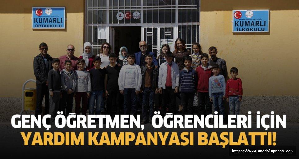 Genç öğretmen, öğrencileri için yardım kampanyası başlattı!