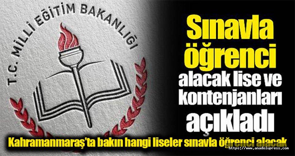 MEB, liseleri açıkladı! İşte Kahramanmaraş'taki okulların listesi