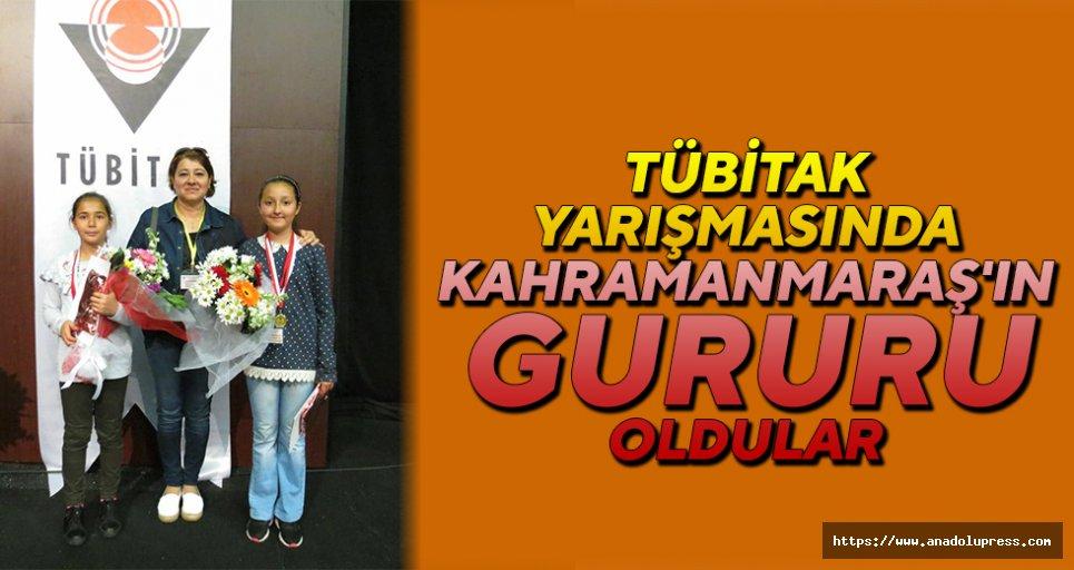 Tübitak yarışmasında Kahramanmaraş'ın gururu oldular