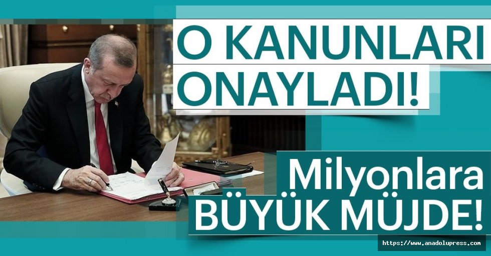 Cumhurbaşkanı Erdoğan3 Kanunu Onayladı