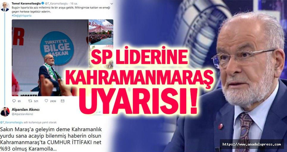 Bakanlık Müşavirinden, SP liderine Kahramanmaraş uyarısı!