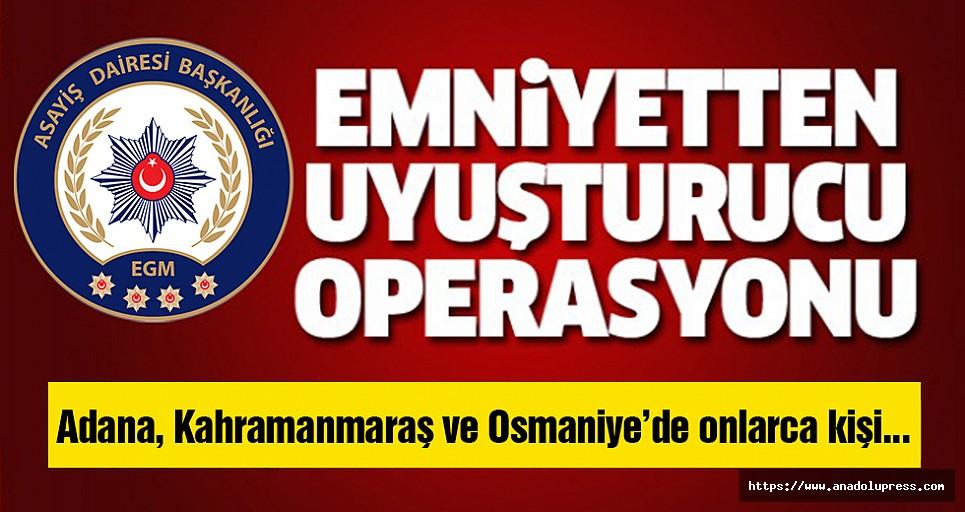 Kahramanmaraş'ta, eş zamanlı operasyon!