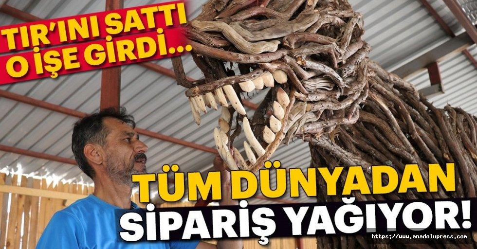 TIR'ını sattı heykeltraş oldu; tüm dünyadan sipariş yağıyor!