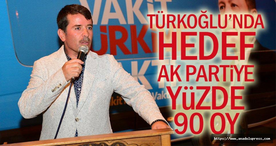 Türkoğlu'nda Hedef, Ak Partiye Yüzde 90 Oy