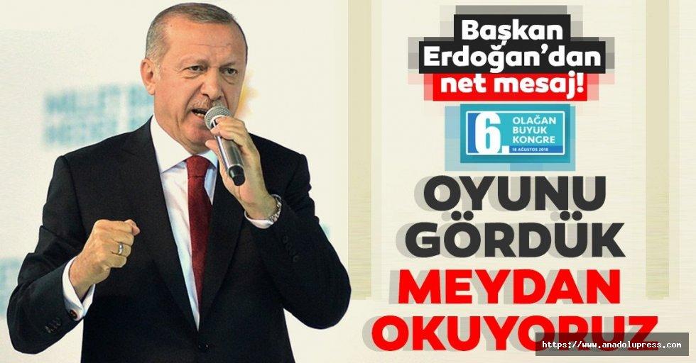 Başkan ErdoğanAK Parti6.Olağan Kongresi'nde net mesaj verdi!