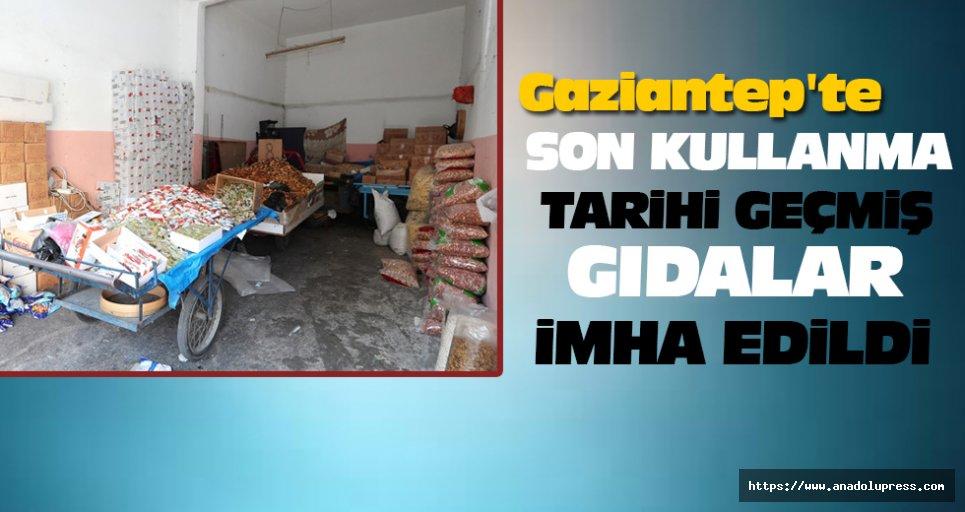 Gaziantep'te Son Kullanma Tarihi Geçmiş Gıdalar İmha Edildi