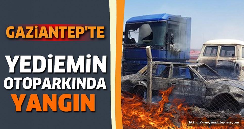 Gaziantep'te Yediemin Otoparkında Yangın