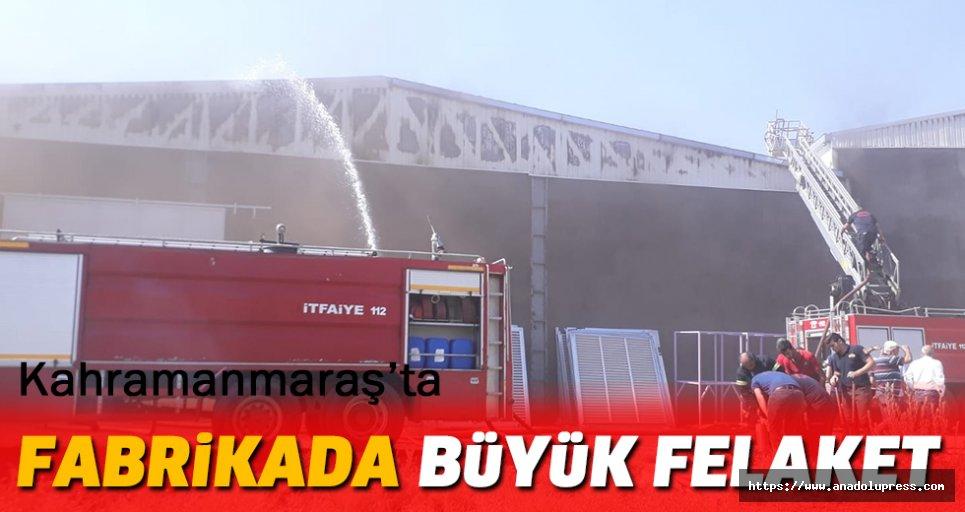 Kahramanmaraş'ta Fabrikada Büyük Felaket
