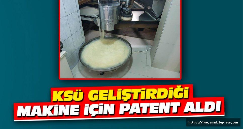 KSÜ Geliştirdiği Makine İçin Patent Aldı
