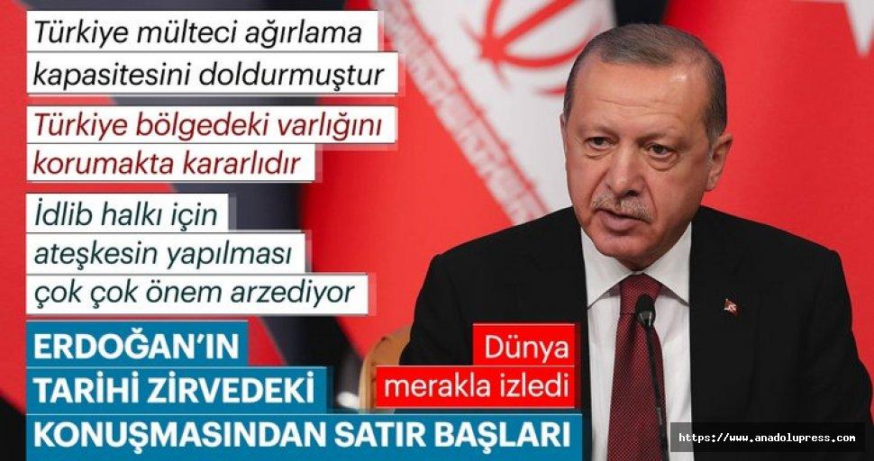 Erdoğan: İdlib'de ateşkes ilanı olursa önemli bir adım olacak