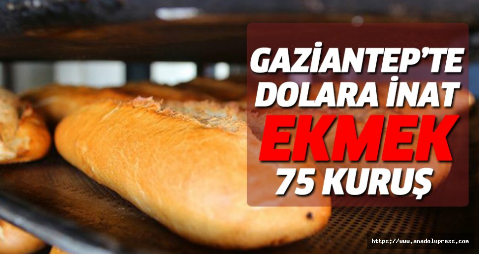 Gaziantep'te Dolara İnat, Ekmek 75 Kuruş
